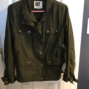 Kut from the Kluth green cotton jacket